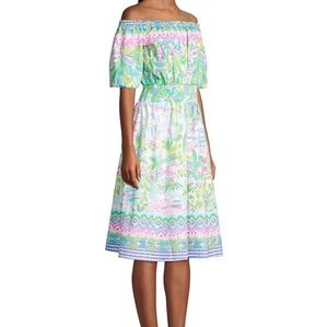 NWT Lilly Pulitzer Off Shoulder Camille Dress